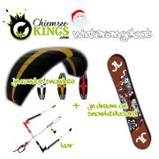 JN - Winterangebot Softkite Randas 8m² & Twin Snowboard Dream On